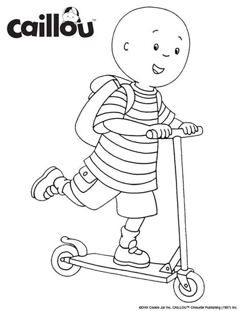 printable coloring pages caillou 144 best caillou activities printables images on