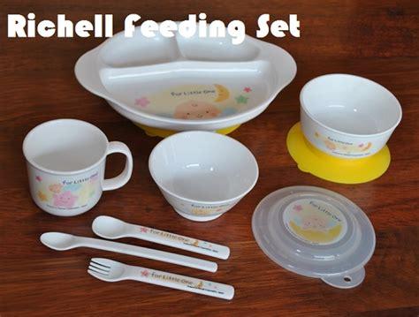 richell feeding set peralatan makan bayi lengkap