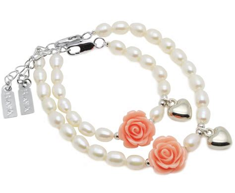 bruidsmeisje betekenis moeder dochter armbanden flower power met hartje