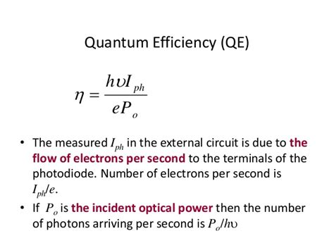 photodiode quantum efficiency equation chapter 6a