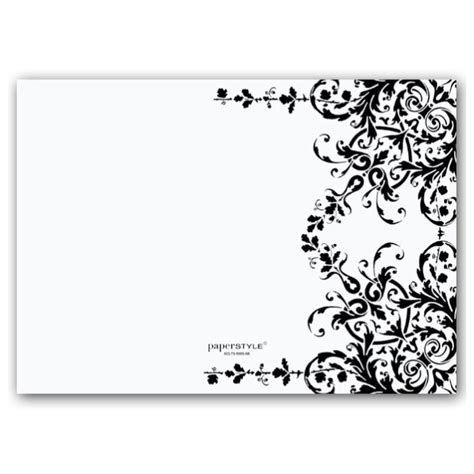 blank invitations templates 23 black and white wedding