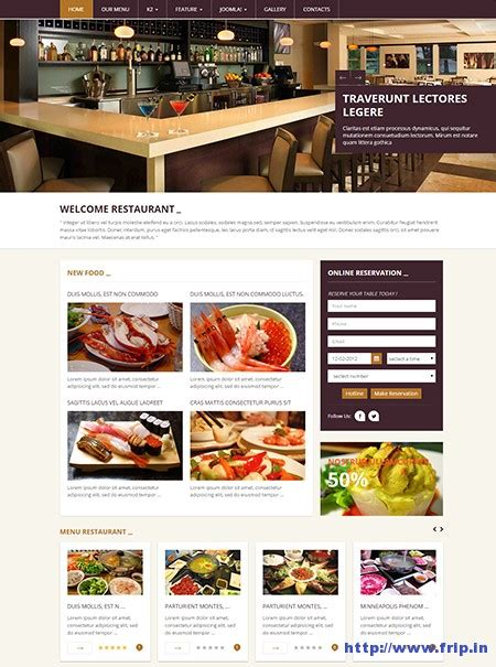 15 best restaurant cafe joomla templates 2015 frip in