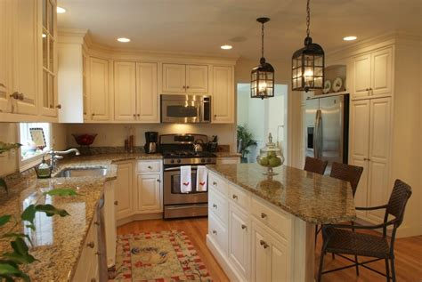 most popular kitchen design granite countertop colors with cream cabinets and antique