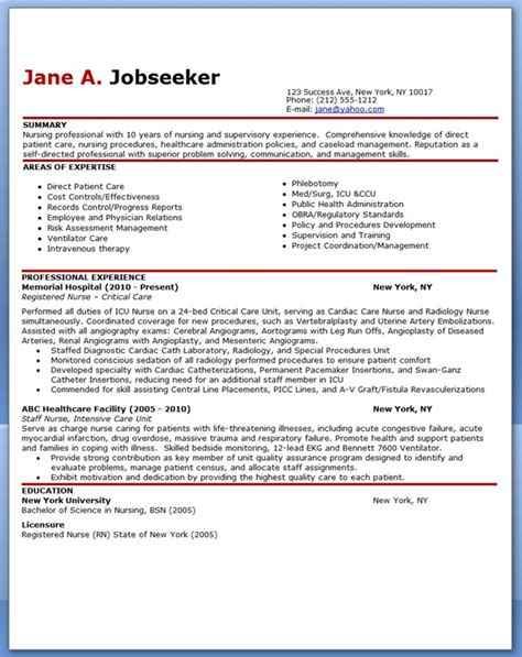 experienced nurse resume sle resume downloads