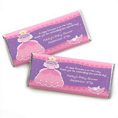 personalized candies for baby shower pretty princess personalized baby shower bar