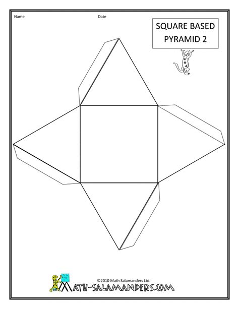 How To Make An Pyramid Out Of Paper - pattern shapes and symmetry in our world process