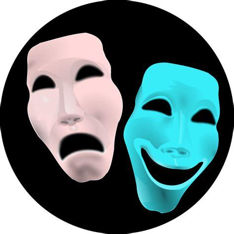 imagenes de jack mascara azul vector gratis comedia cara teatro tragedia imagen
