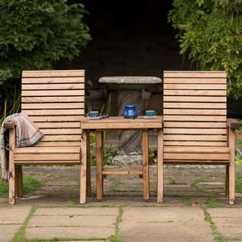 wooden garden companion seat love seat rspb sustainable