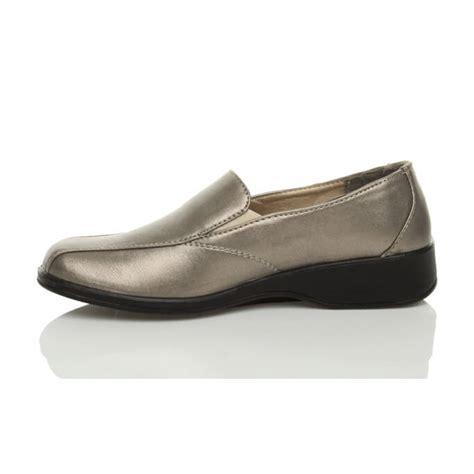 comfortable wedge shoes for walking womens ladies comfort low heel wedge slip on work loafers