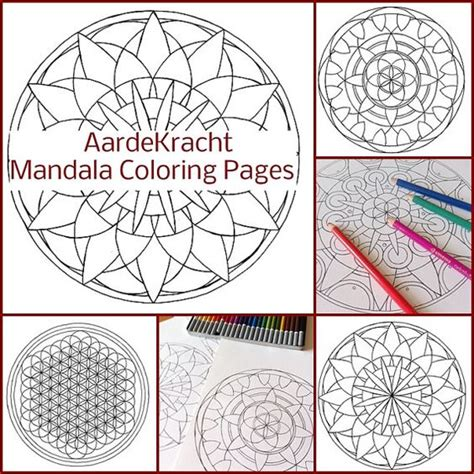 mandala coloring book tips 10 mandala coloring pages to print and color instant pdf