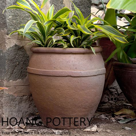 Planters Net by Quality Black Clay Flower Pot Outdoor Hphp071 Hoang