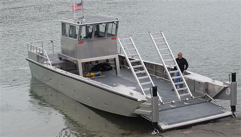 fishing pontoon boats made in michigan munson 44 series custom welded aluminum boats landing