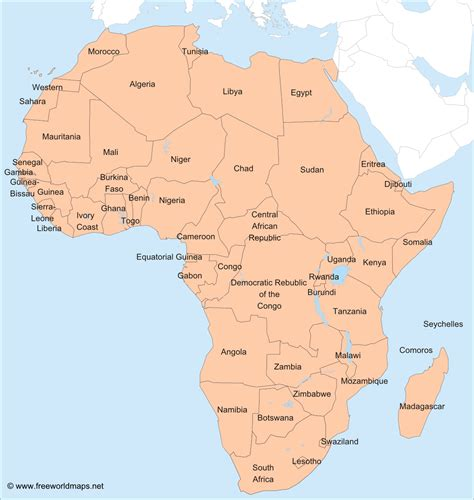 map of africa countries africa printable maps by freeworldmaps net
