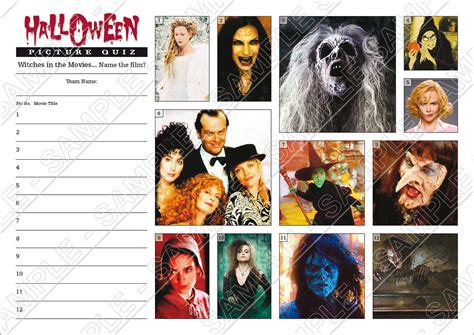 film themed quiz team names halloween quiz with witches or scary movies picture rounds
