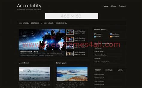 blogspot themes black dark black games blogger theme template free download