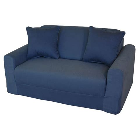 kids loveseat kids sofa sleeper in denim dcg stores
