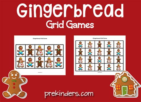 gingerbread man matching game printable gingerbread theme prekinders
