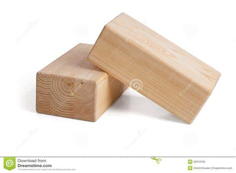 Wooden Bricks wooden bricks for on a white background stock photo