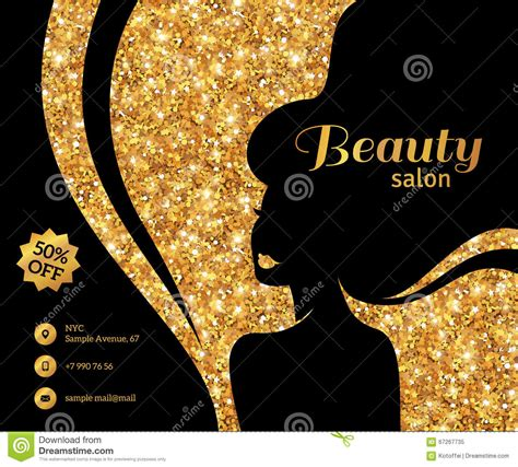 how to create a stylish black and gold 3d text effect in black and gold flyer fashion woman long hair stock vector