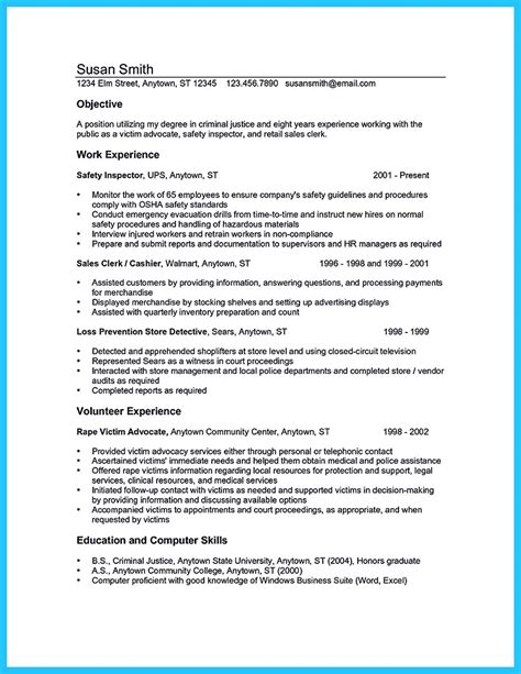 criminal justice resume exles 28 images objective