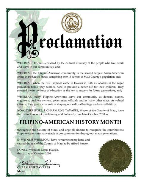 proclamation template dagiti kappuros a damdamag iti hawaii proclamation letter