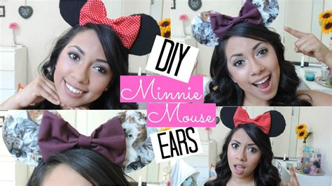 cute easy amp affordable diy minnie mouse ears youtube