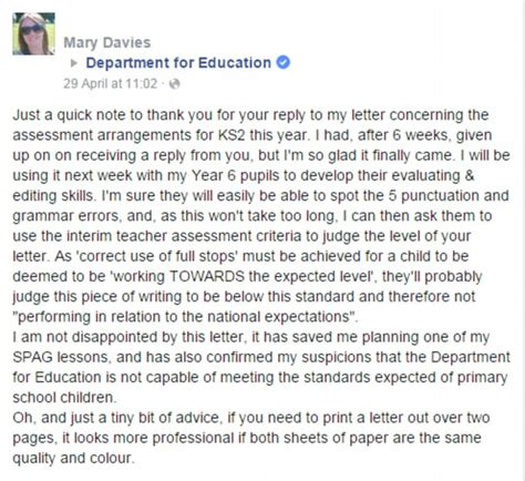 Spellings Open Letter To by Outraged After Receiving A Letter From Department