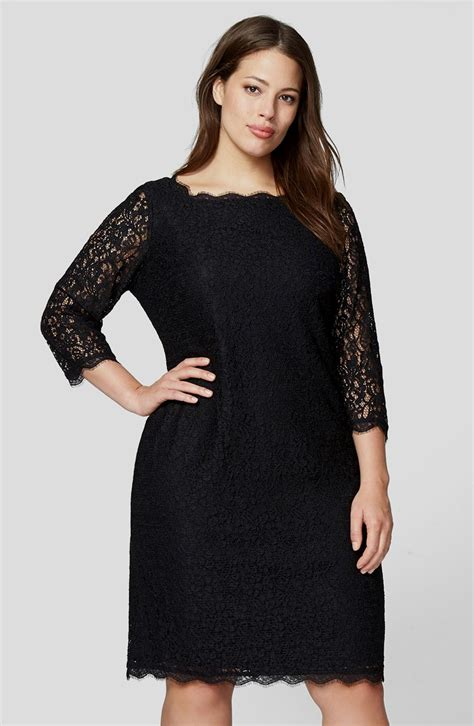 plus size cocktail dress with sleeves black lace dress with sleeves plus size naf dresses