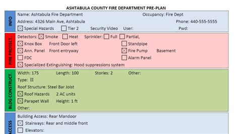 Department Incident Plan Template by Department Pre Plan Form Using Word Firehouse
