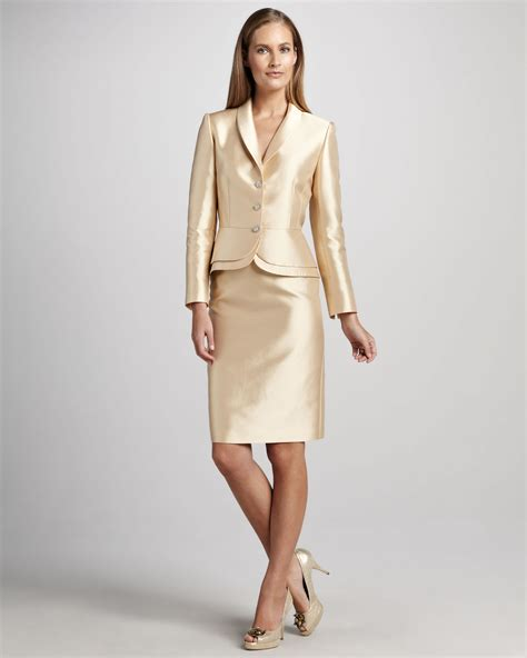 Tahari Double Peplum Skirt Suit
