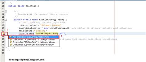 import javax swing joptionpane membuat hello word pada java dengan netbeans ide