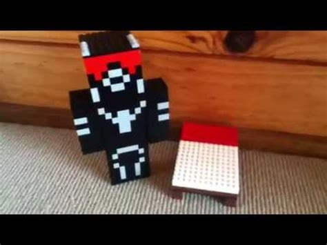 how to make a lego bed lego minecraft bed youtube