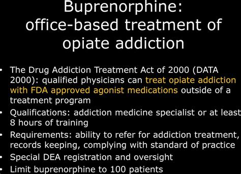 Physicans Can Detox For Addiction Without Substanc Licensin by Buprenorphine Treatment In Primary Care Pdf