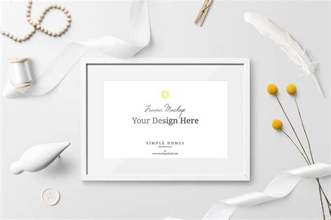 minimalistic photo frame mockup  psd mockup world hq