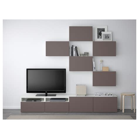 besta ikea tv best 197 tv storage combination white valviken brown