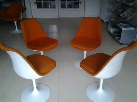 chaise tulipe knoll occasion meuble de salon contemporain