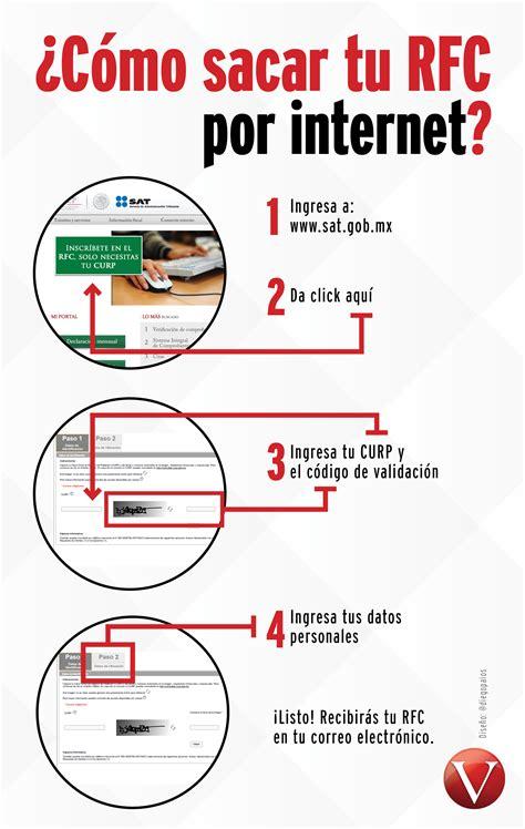 Como Sacar El Rfc Y Curp Por Internet | 4 pasos para sacar tu rfc por internet infograf 205 a