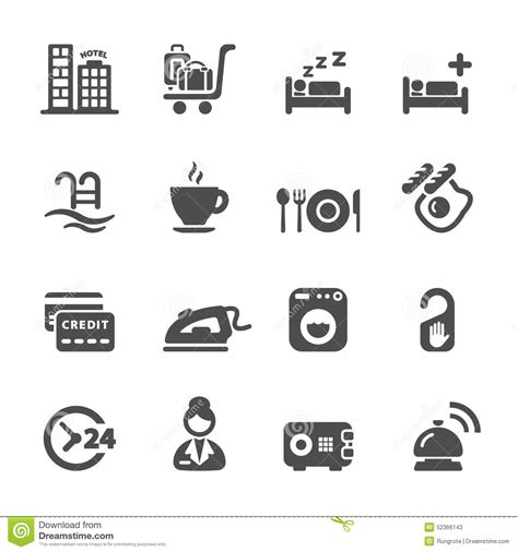 Hotel Service Icon Set 8, Vector Eps10 Stock Vector   Image: 52366143