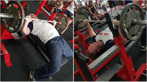 guinness world record for bench press video powerlifting chion beats challenging bench press