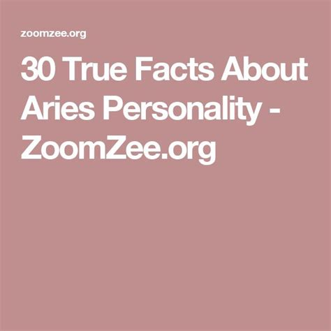 25 best ideas about aries personality on pinterest