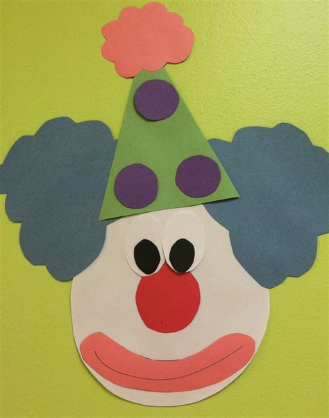 clown template preschool 17 best images about classroom carnival circus on