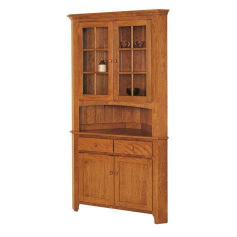 Corner Dining Room Hutches by Shaker Corner Hutch Solid Hardwood Furniture Locally
