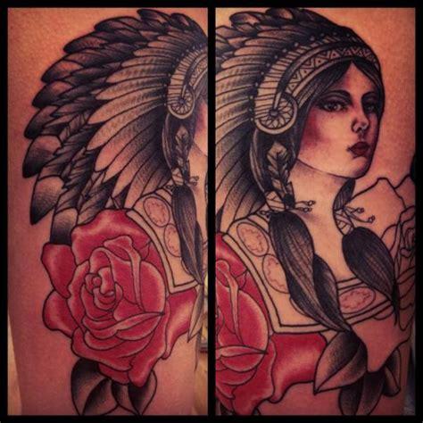 tattoo old school indian tatuagem old school flor indiano por sarah b bolen