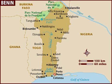 africa map benin map of benin
