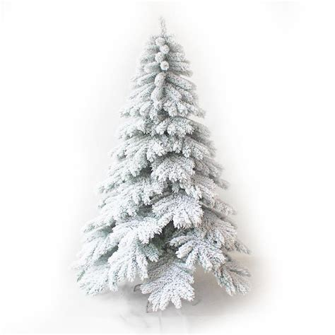 customized size artificial flocked christmas trees 7ft