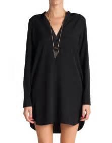tunic shift dress black long sleevesleeve tunics