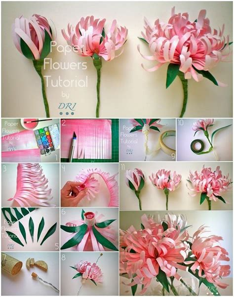 How To Make Handmade Flowers From Paper And Fabric - 17 best ideas about paper flower tutorial on