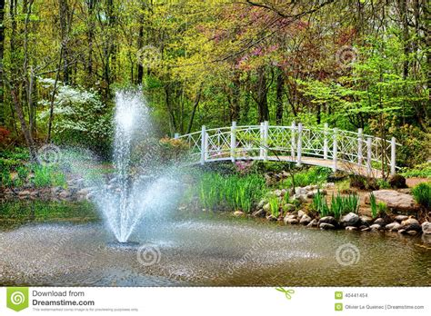 Sayen Park Botanical Garden Sayen Park Botanical Garden Bridge And Stock Photo Image 40441454