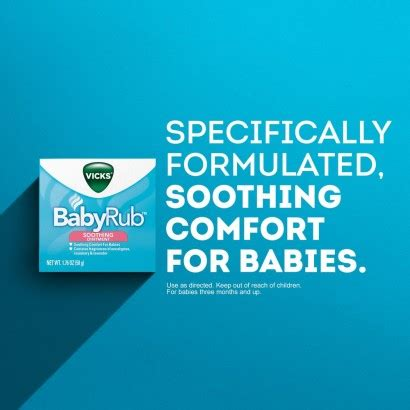 soothing ointment for babies vicks soothing ointment for babies 1 76 oz 50 g rite aid