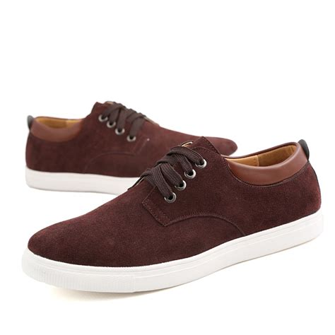 comfortable casual boots men s suede leather comfortable casual shoes big size male